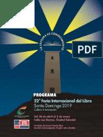 Programa de actividades de la Feria Internacional del Libro 2019