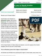Sharia Law in Saudi Arabia