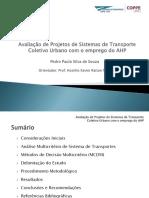 Apresentação Dissertação - Avaliação de Projetos de Transporte com AHP