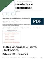 Multas Vinculadas a Libros Electrónicos - Noticiero Contable