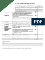 Criterios de Evaluación Ensayo Argumentativo