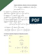 Resolução - Lista Calculo 1 e 2