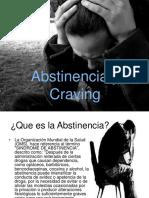 Abstinencia y Craving