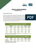 11. Informe Del Sector Automotor a Noviembre 2016