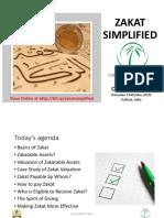 Zakat Simplified TSSF 2019