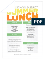 Weber School District - Summer lunch program dates and locations
