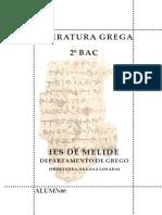Temario de literatura Grega. 2º de BAC 2018-19