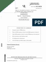 Mathematics (2013) May Paper 2