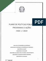 Plano de políticas públicas