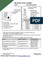 Cordless Home Phone D13842BK