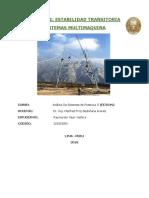 Trabajo 1 - Estabilidad Transitoria en Sistemas Multimaquina Potencia II Yry