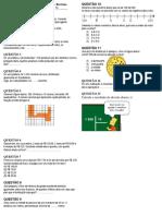 Lista 01 - Matemática  (6o ano)