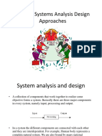 SAD Lec 6. Systems Analysis Design Approaches