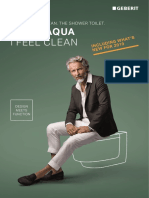 Media Local Literature Geberit AquaClean Brochure - I Feel Aqua I Feel Clean