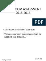 NEW K to 12 Assessment 15-16