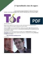 ¿Es Tor Seguro? Aprendiendo Cómo de Seguro EsTor