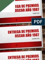 Entrega de Premios Oscar Año 1987