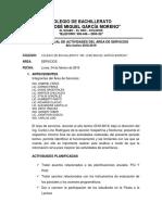 Informe Del Area Servicios 2018-19
