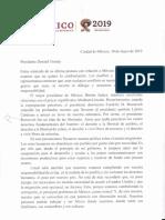 AMLO Carta Al Presidente Trump, 30may19