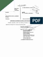 Aranza TRO Application Appendix 11-03-10