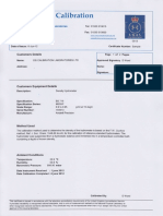 UKAS Hydrometer Calibration Certificate