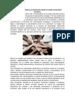 Cambios en La Didáctica y La Evaluación Desde El Modelo Sociocritico