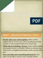 How to write a myth PPT