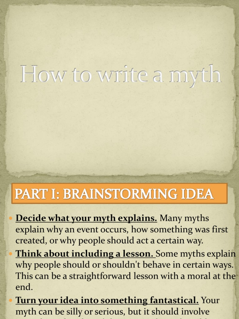 How To Write A Myth  Hero  Traditional Stories
