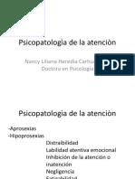 Psicopatologìa de La Atenciòn