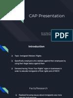 cap presentation