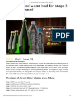 Is Carbonated Water Bad for Stage 3 Kidney Disease
