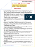 Current Affairs Pocket PDF - November 2017 by AffairsCloud