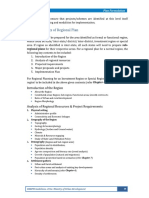 Contents of Regional and Development Plan