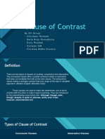 Clause of Contrast