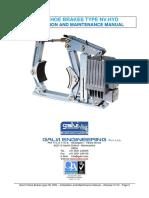 GALVI Engineering - Installation and Maintenance Manual Shoe Brakes NV HYD