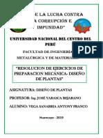 Resolucion de Ejercicios, Diseño de Plantas.