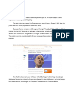 SUMMARY to the Greece Public Debt