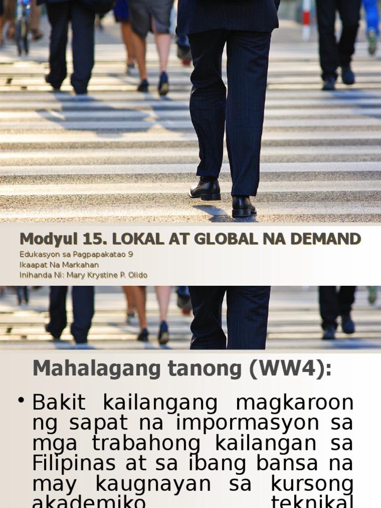 Modyul15 Lokal at Global Na Demand (1)