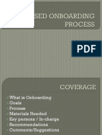 (1)Proposed Onboarding Process