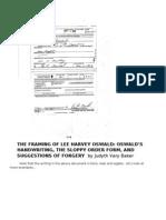 The Framing of Lee Harvey Oswald