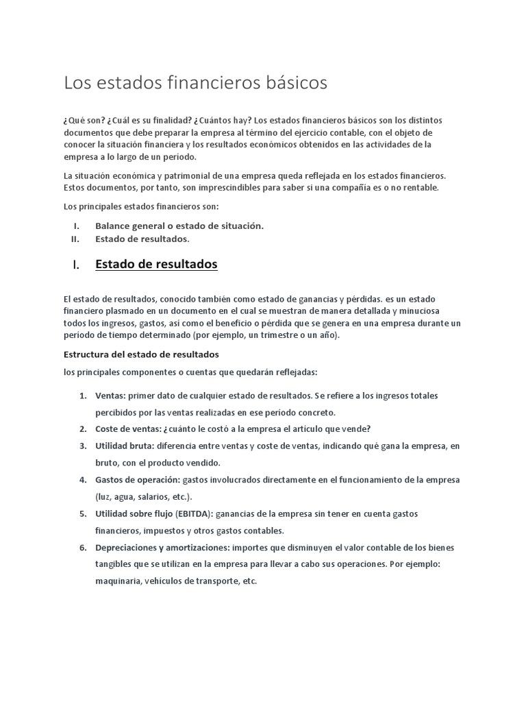 Archivo Personalizado Estado De Resultados Ganancias