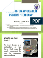 Item Bank Application Project