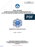 Soal Dan Kunci Jawaban OSK Informatika-Komputer SMA 2019