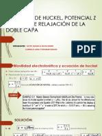 ECUACIÓN DE HUCKEL Y SMOLUCHOWSKY