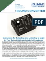 Light to Sound Converter