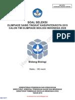 Soal Dan Kunci Jawaban OSK Biologi SMA 2019