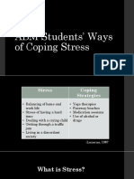 ABM Students' Ways of Coping Stress