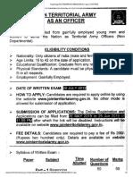 Territorial Army 2019 Civilian Notification