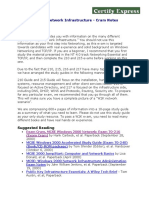 (70-215) Cram Notes - Windows 2000 Network Infrastructure (Full Access)