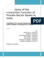 Sec a Grp 3 Production Function of Private Banks